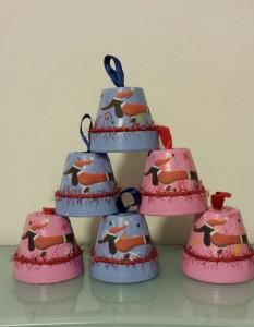 Bass-campanelle vasetto in terracotta decorata personalizzabili 16 x 5€