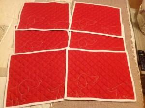 Tovagliette all'americana rosse 6 x 15